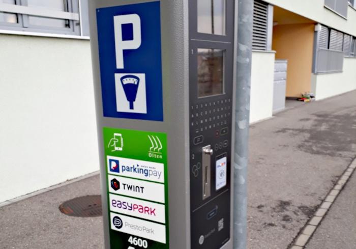 Olten SO: Parkgebühren via App bezahlen