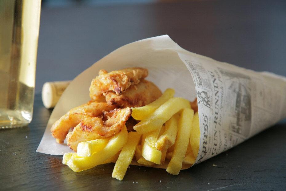 Leckere Fish and Chips auf dem Bielersee